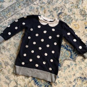 Gap girl toddler sweater dress size 3